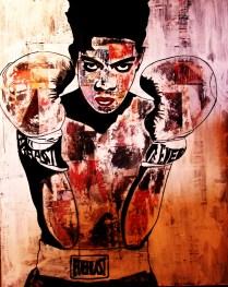Basquiat / 60*80cm / sur toile / technique mixte