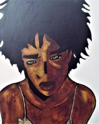 Black Girl / 60*80cm / acrylique sur toile / 300€