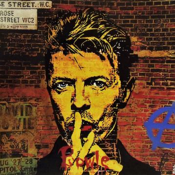 Bowie / 80*80cm / technique mixte sur aluminium / 300€
