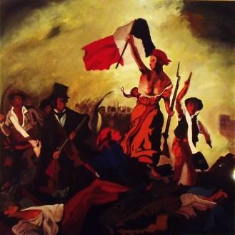 Delacroix / 100*100cm / sur toile