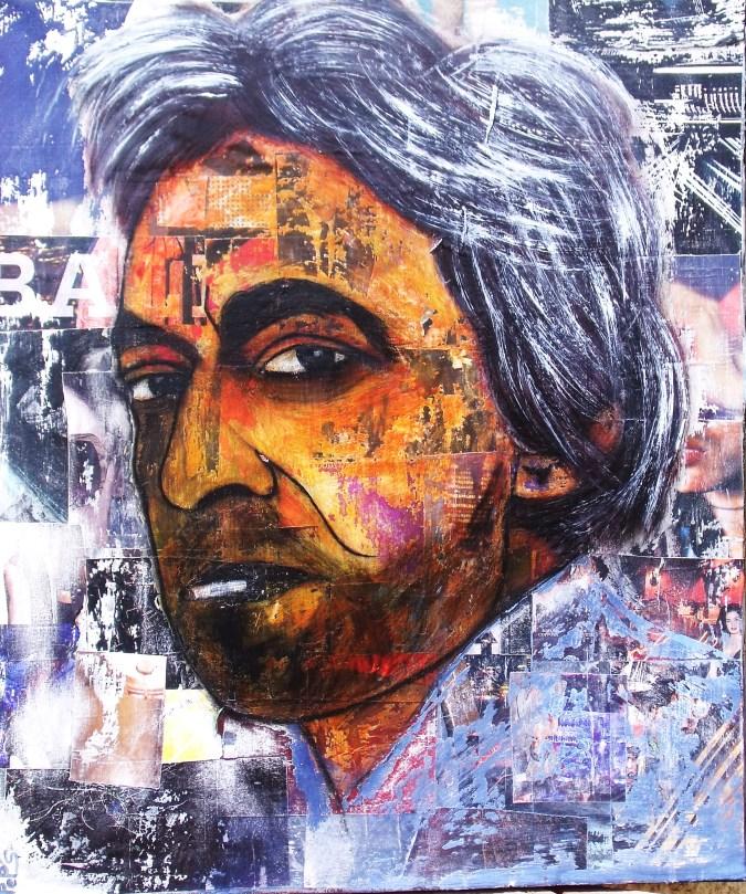 Gainsbourg / 80*80cm / sur toile / technique mixte