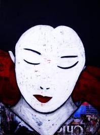 Geisha / A4 / papier Canson + passe-partout / technique mixte / 50€