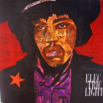 Hendrix / 40*40cm / papier Canson + passe-partout / technique mixte / 60€