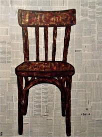 La Chaise / 60*80cm / sur toile / technique mixte / 280€