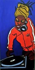 La DJ / 40*80cm / acrylique sur toile / 260€