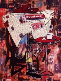 Le Dauphiné / 60*80cm / sur toile / technique mixte