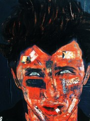 Sean Penn / 60*80cm / sur toile / technique mixte