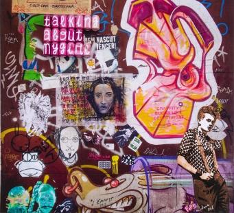 Street art 03 / 60*60 cm / (support aluminium) / 200€