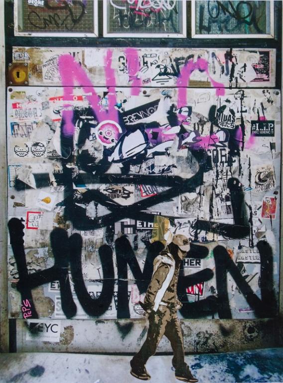Street art 09 / 60*80 cm / (support aluminium) / 250€