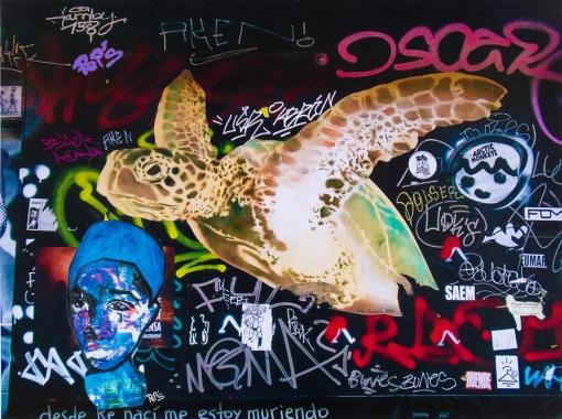 Street art 10 / 60*80 cm / (support aluminium) / 250€