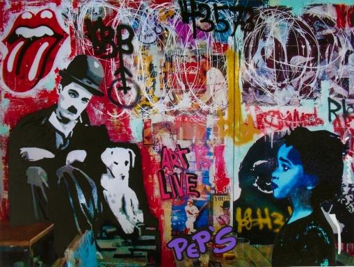 Street art 11 / 60*80 cm / (support aluminium) / 250€