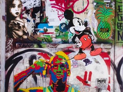 Street art 13 / 60*80 cm / (support aluminium) / 250€