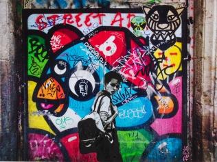 Street art 16 / 60*60 cm / (support aluminium) / 200€