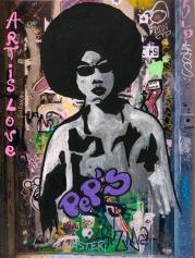 Street art 18 / 40*60 cm / (support aluminium) / 200€