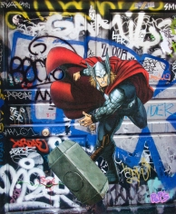 Street art 20 / 60*80 cm / (support aluminium) / 250€