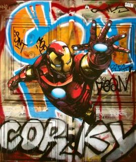 Street art 21 / 60*80 cm / (support aluminium) / 250€