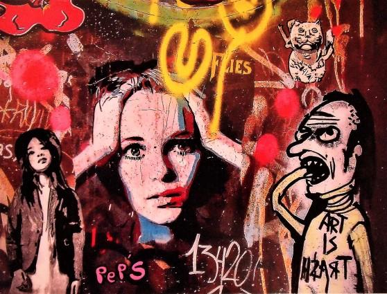 Street art 25 / 60*80 cm / (support aluminium) / 250€