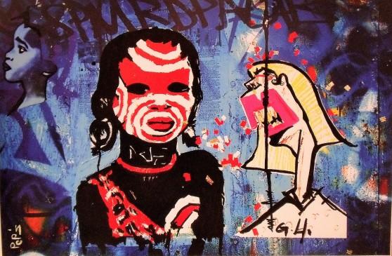 Street art 26 / 60*80 cm / (support aluminium) / 250€