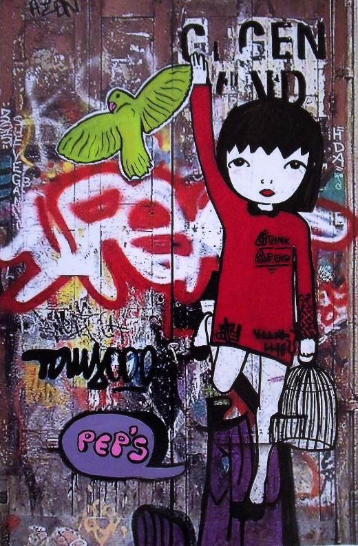 Street art 27 / 60*80 cm / (support aluminium) / 250€