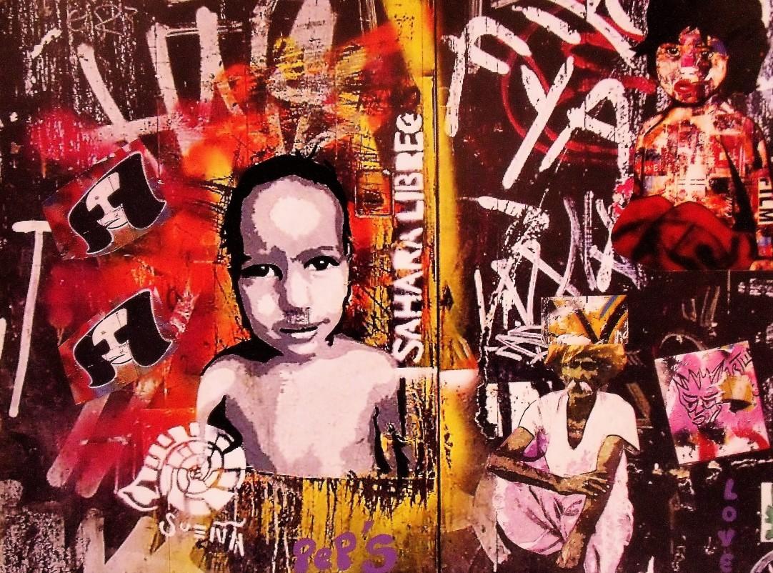 Street art 28 / 60*80 cm / (support aluminium) / 250€