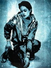Hip Hop Girl / 30*40cm / avec cadre noir (40*50cm) / 100€