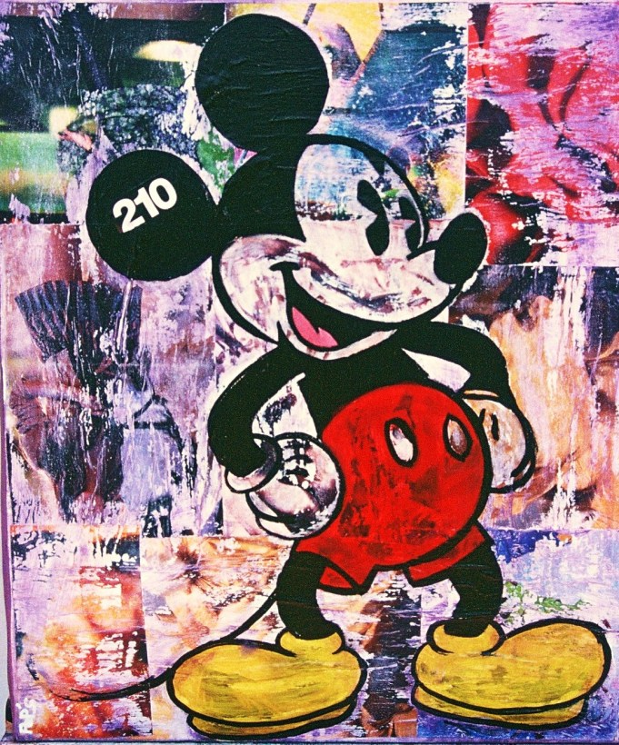 Mickey / 60*80cm / sur toile / technique mixte