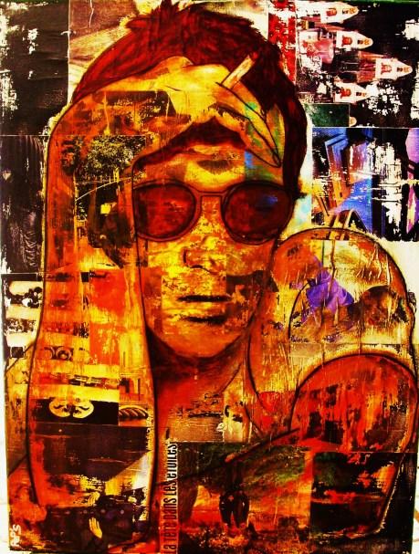 Pep's (auto-portrait) / 60*80cm / sur toile / technique mixte