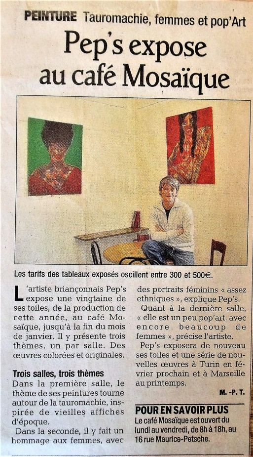 Peps expose Mosaique